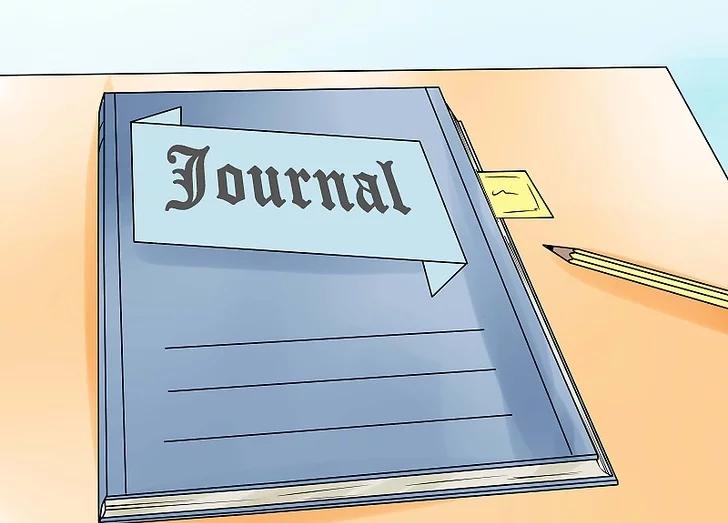 1. در یک دفتر خاطرات شروع به نوشتن کنید.