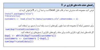 راهنمای حذف داده های تکراری در R